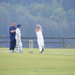 Zach Penter bowling vs Braunton U13